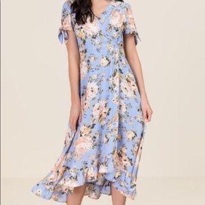 Dresses & Skirts - Victoria Ruffle Floral Wrap Dress